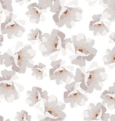 Seamless elegant pattern with flowers roses vector image