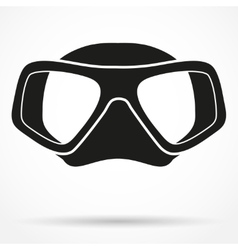 Silhouette symbol of Underwater diving scuba mask vector image vector image