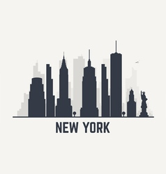 New york black line view copy vector