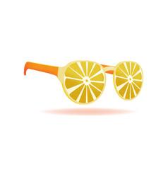 Lemon sunglasses summer design object vector