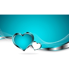 2 hearts and valentins day vector