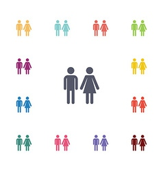 Man and woman flat icons set vector