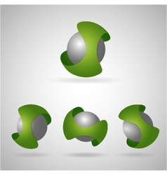 Sphere green vector