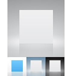 Blank presentation cards vector