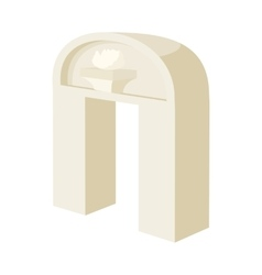 Ancient arch icon in cartoon style vector