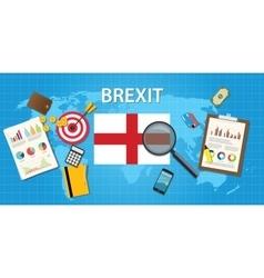 Brexit british exit from european organization vector