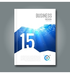 Cover magazine design template beautiful business vector