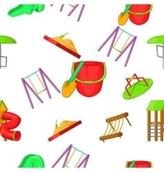 Entertainment for kid pattern cartoon style vector