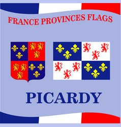 flag of french province picardy vector image