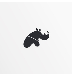 Flat style logo icon template rhinoceros design vector