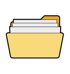 folder with file or text document icon image vector image