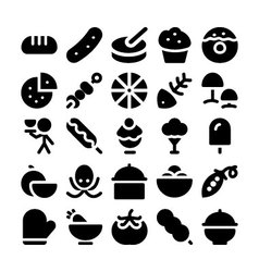 Food icons 12 vector