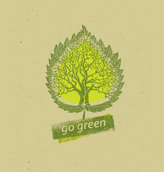 go green recycle reduce reuse eco poster concept vector image vector image