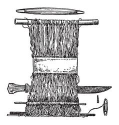 Hand loom is earliest looms were vertical vector