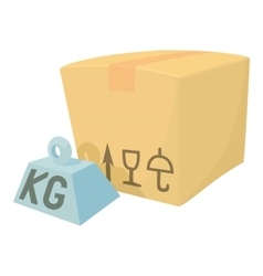 Hard box icon cartoon style vector
