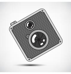 Hipster retro photo camera vector
