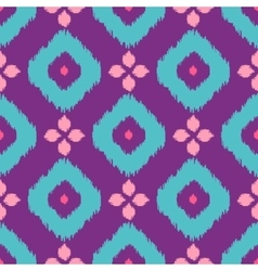Ikat geometric seamless pattern Pink and violet vector image vector image