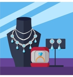 Jewelry shop banner vector