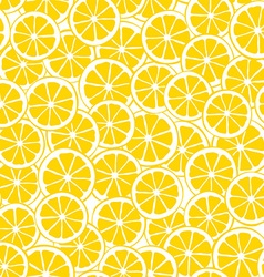 Lemon slices seamless pattern vector