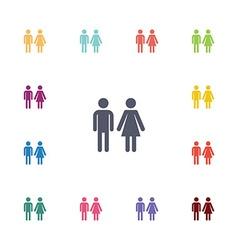 man and woman flat icons set vector image vector image