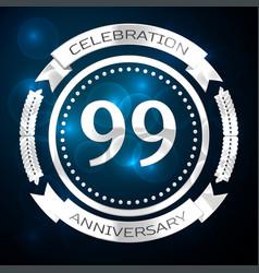 ninety nine years anniversary celebration with vector image vector image