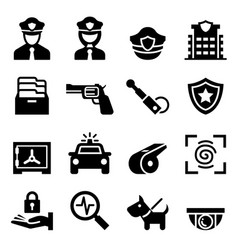 Police security guard icon vector