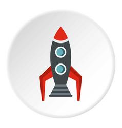 Rocket icon circle vector