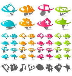 Swoosh social media logo icons vector