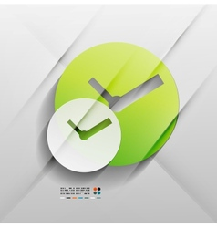 time paper modern clock design vector image vector image