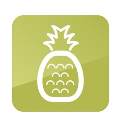 Pineapple outline icon tropical fruit vector