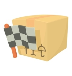 Start delivery box icon cartoon style vector