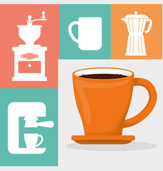 Coffee cup fresh aroma poster vector