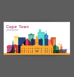 Cape town colorful architecture vector