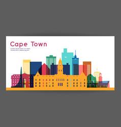 cape town colorful architecture vector image