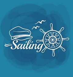 White lettering sailing vector