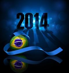 Soccer ball with brazil flag vector image