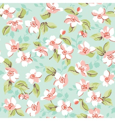 Vintage floral and cherry background vector