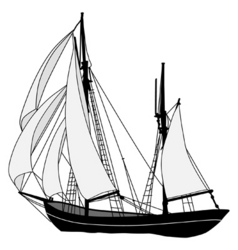 sailing ship vector image