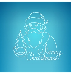 Santa claus on a blue background vector