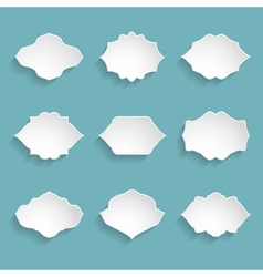 set of 9 blank white frames vector image