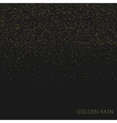 Golden rain background vector image