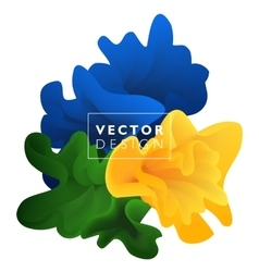 Abstract color cloud vector