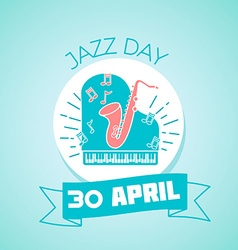 30 april jazz day vector
