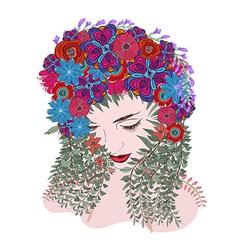 Spring time fantasy floral soul vector
