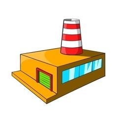 Chemical plant icon cartoon style vector