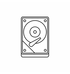 Hdd icon icon outline style vector