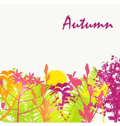Abstract autumn natural background vector