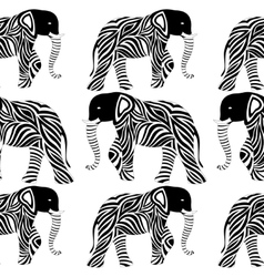 Abstract elephant seamless vector image