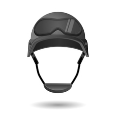 Army helmet with glasses Military flight vector image