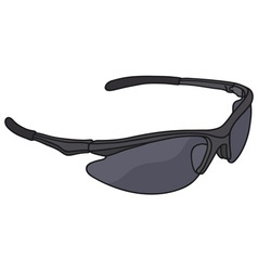 Black sports eyewear vector